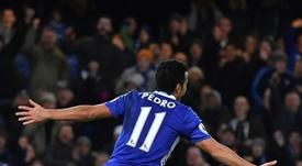 Pedro anotó un doblete para el Chelsea. AFP