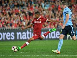 Rhian Brewster pictured in pre-season action. AFP