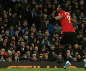 United win battle of Manchester to leave City 14 points off top. AFP