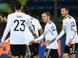 Alemania pasó por encima de San Marino con ocho goles. AFP