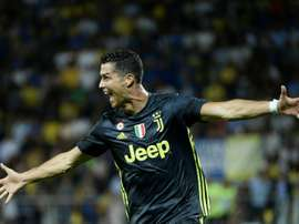 Ronaldo helped Juve maintain their 100% record. AFP
