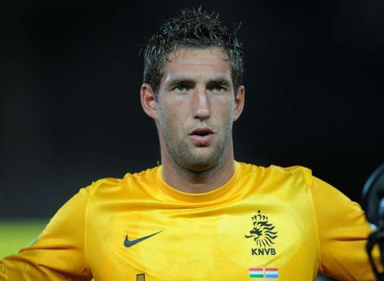 Stekelenburg terminará la temporada en el Everton. AFP