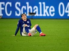 Schalke failed to pick up three points again despite leading v Leverkusen. AFP