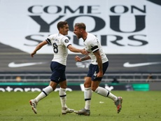 Toby Alderweireld (R) gave Tottenham all three points versus Arsenal. AFP