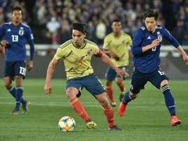 Falcao scoring the only goal of the game. AFP