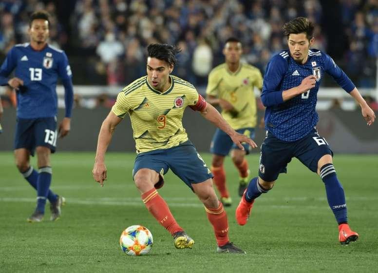 Falcao buscó con insistencia el gol, pero este no llegó hasta el segundo tiempo. AFP