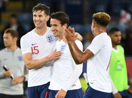 The English defence have proved to be extremely solid. AFP