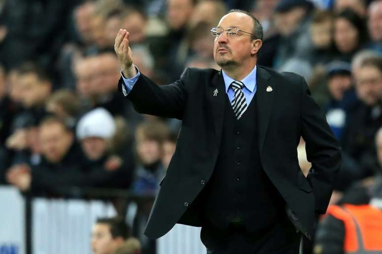 Benitez is determined to stay on Tyneside. AFP