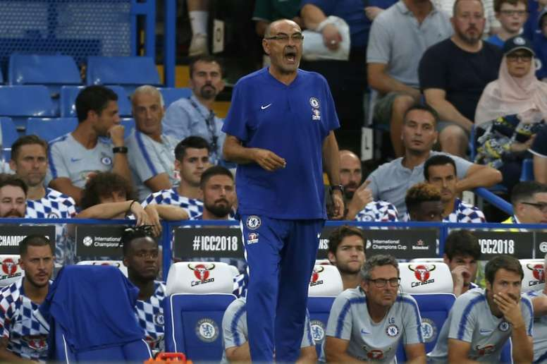 Chelsea boss Maurizio Sarri has work to do after a busy transfer deadline. AFP