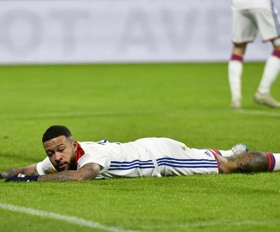 Depay and Lyon suffered an early exit from the French League Cup. AFP