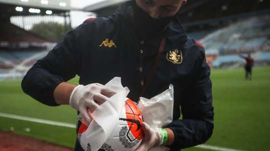 Sixteen Premier League players and staff have tested positive. AFP