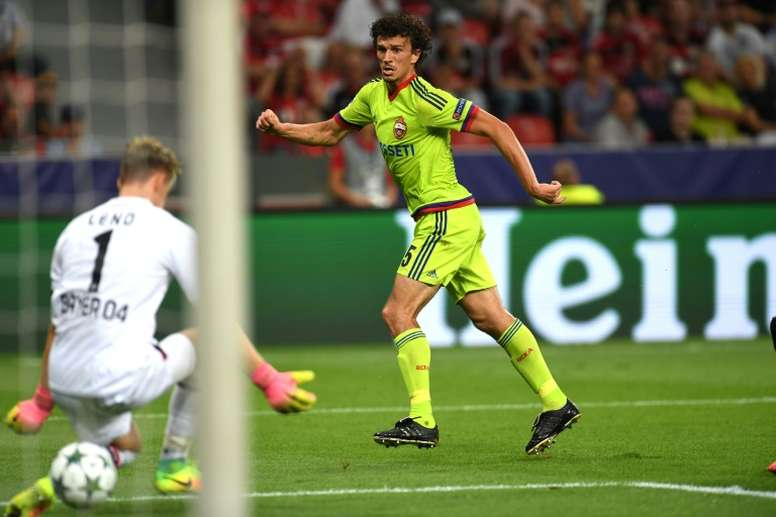 CSKA Moscow's Roman Eremenko has been banned for two years for testing positive for cocaine. AFP