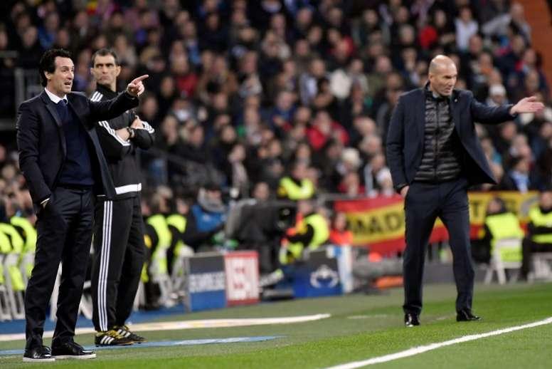 Entre Emery y Zidane suman 21 títulos. AFP
