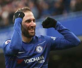 Chelsea look set to activate Higuain's loan deal. AFP