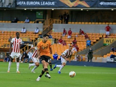 Raul Jimenez scored the only goal of the game for Wolves as they beat Olympiakos. AFP