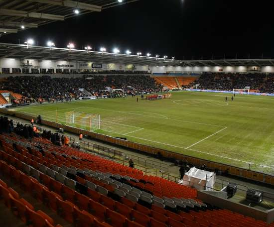 Blackpool fans were clear in their feelings towards the club owner. GOAL