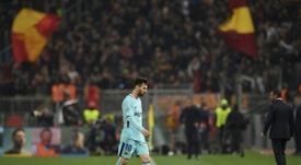 Roma knocked Messi and Barcelona out of the Champions League. AFP