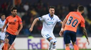 O Basaksehir confirmou o interesse do Sevilla por Irfan Kahveci. AFP