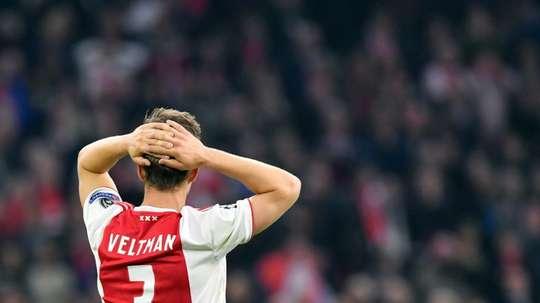 Veltman est l'un des capitaines de l'Ajax. AFP