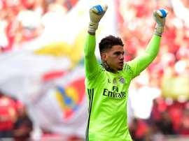 Ederson Moraes deixou o Benfica em 2017. AFP
