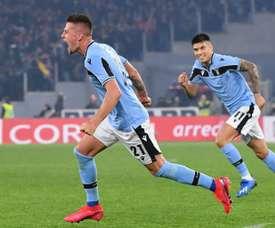 O PSG quer pescar na Lazio. AFP
