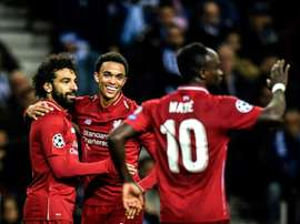 Mo Salah and Sadio Mané both scored twice. AFP