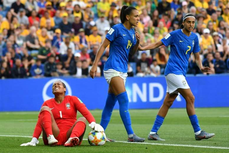 Brazil suffered a disappointing collapse against Australia. AFP