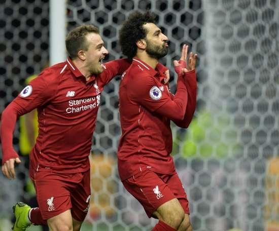 Salah abriu o marcador. AFP