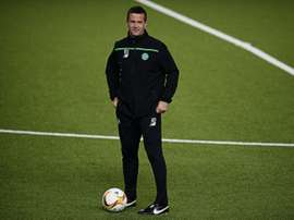 Celtic manager Ronny Deila oversees a training session in Molde, Norway