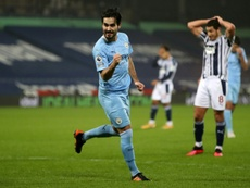 Ilkay Gundogan scored twice in Manchester Citys thrashing of West Brom. AFP