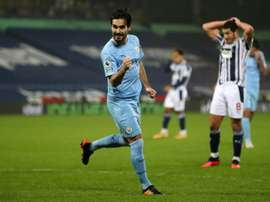 Ilkay Gundogan scored twice in Manchester Citys thrashing of West Brom. AFP
