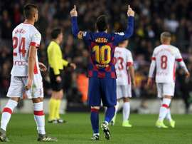 Messi hat-trick breaks La Liga record as Barca put five past Mallorca. AFP