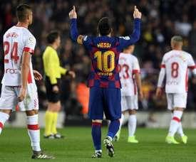 Messi quebra outro recorde de Cristiano Ronaldo. AFP