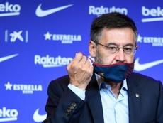 Josep Maria Bartomeu resigned as Barcelona president. AFP