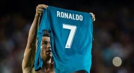 Cristiano deja el '7' huérfano en el Real Madrid. AFP