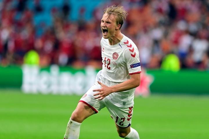 Dolberg, 'MVP' del Gales-Dinamarca. AFP