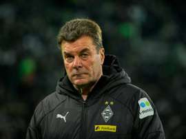 Hecking's spell at Gladbach is coming to an end. AFP