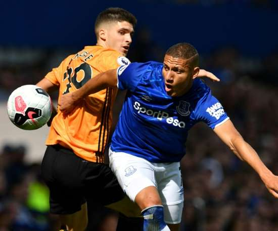 Richarlison was the difference between Everton and Wolves. AFP