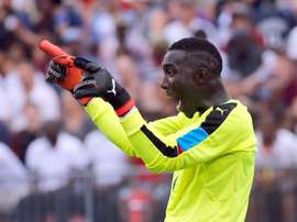 Ghana goalkeeper Richard Ofori defied Orlando Pirates. AFP
