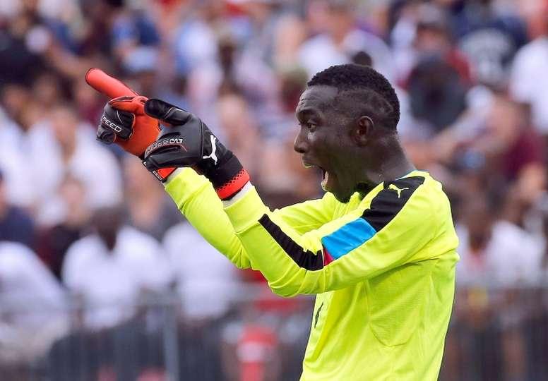 Ghana goalkeeper Richard Ofori defied Orlando Pirates. AFP