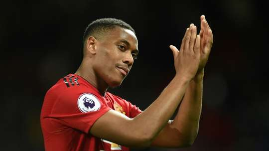 Anthony Martial is up for Premier League player fo the month. AFP