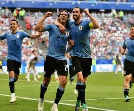 Godin dans l'histoire de l'Uruguay. AFP