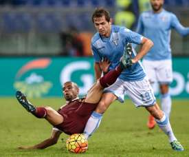 The Bosnian's tackle on the Egyptian winger angered the Giallorossi coach. Twitter