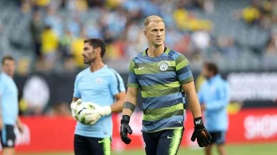 Hart will complete his move to Burnley on Tuesday. AFP