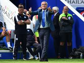Leicester Citys Italian manager Claudio Ranieri signals from the touchline during an English Premier League football match against Sunderland at King Power Stadium in Leicester, central England on August 8, 2015
