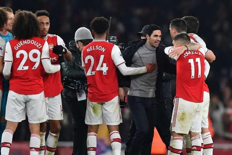 Arteta cogió las riendas del Arsenal tras la destitución de Emery. EFE