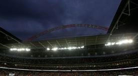 El mítico estadio de Wembley podría acoger partidos del final de la Premier League. AFP