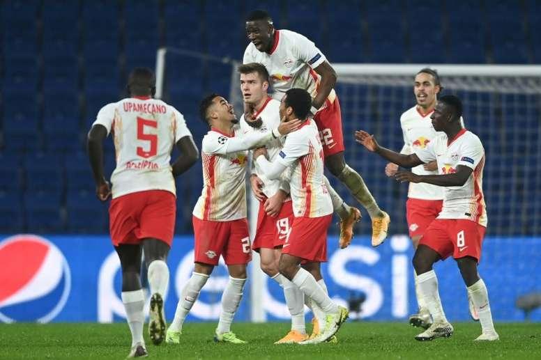 Leipzig won it at the death. AFP