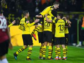 Reus had an injury scare just before the break. AFP