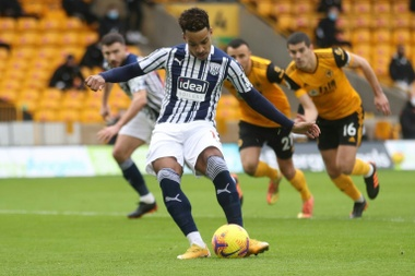 West Broms Matheus Pereira scored twice from the penalty spot against Wolves. AFP